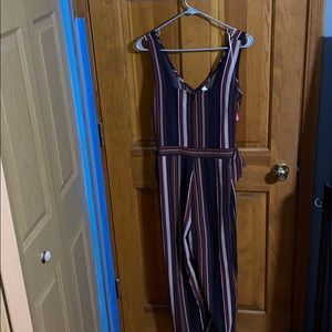 Stripped Jumpsuit 💜
